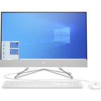 "HP 24-dp0002na 23.8"" All-in-One PC - AMD Ryzen 5, 256 GB SSD, White, White"