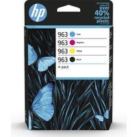 HP 963 Cyan, Magenta, Yellow & Black Ink Cartridges - Multipack, Cyan