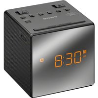 SONY ICFC1TB Analogue Clock Radio - Black, Black