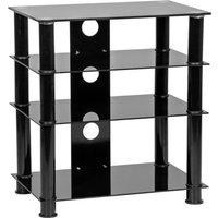 MMT LFBLK650 600 mm Hi-Fi Stand - Black, Black