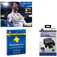 SONY PlayStation 4 Slim, FIFA 18, Docking Station & 3 Month PlayStation Plus Bundle