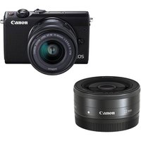 CANON EOS M100 Mirrorless Camera & Triple Lens Bundle
