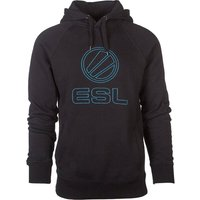 ESL Stitched Hoodie - Extra Extra Large, Black & Blue, Black