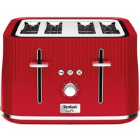 Buy TEFAL Loft TT60540 4-Slice Toaster - Cherry Red, Red - Currys