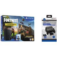 SONY PlayStation 4 500 GB, Fortnite Battle Royale & Twin Docking Station Bundle, Red