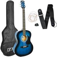 3RD AVENUE STX10ABBPK Acoustic Guitar Bundle - Blue Burst, Blue