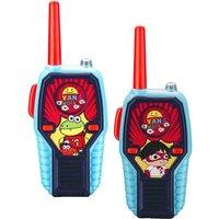 EKIDS Ryan's World RW-212 Walkie Talkies - Twin Pack, Red