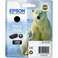 EPSON Polar Bear T2621 XL Black Ink Cartridge, Black