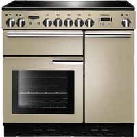 RANGEMASTER Professional 90 Electric Ceramic Range Cooker - Cream & Chrome, Cream