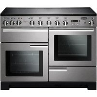 Rangemaster Professional Deluxe 110 Electric Induction Range Cooker - Stainless Steel and Chrome, Stainless Steel