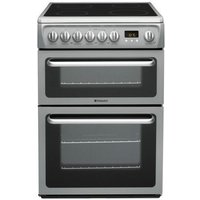 HOTPOINT DSC60S Electric Ceramic Cooker - Silver, Silver