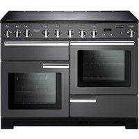 RANGEMASTER  Professional Deluxe 110 Electric Induction Range Cooker   Slate   Chrome  Brown