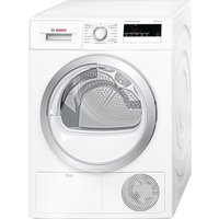 Bosch Tumble Dryer WTH85200GB Heat Pump  - White, White