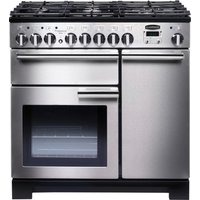 Rangemaster Professional Deluxe 90 Dual Fuel Range Cooker - Stainless Steel, Stainless Steel