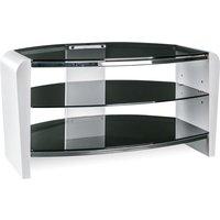 Alphason Francium 800 Tv Stand - White & Smoked Glass, White