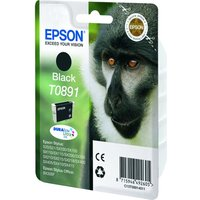 Epson Monkey T0891 Black Ink Cartridge, Black