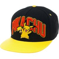 POKEMON Pikachu Snapback Cap - Black & Yellow, Black