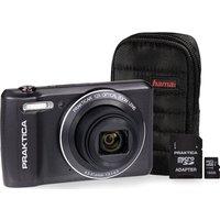 PRAKTICA Luxmedia Z212-LE Compact Camera, Case & 16 GB MicroSD Memory Card Bundle - Graphite, Graphite