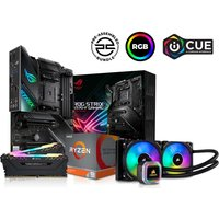 PC SPECIALIST AMD Ryzen 9 X Processor, ROG STRIX Motherboard, 16 GB RAM & Corsair RGB Cooler Components Bundle