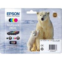 EPSON Polar Bear T2636 XL Cyan, Magenta, Yellow & Black Ink Cartridge - Multipack, Cyan