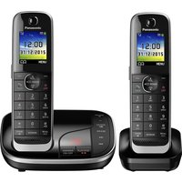 PANASONIC KX-TGJ322EB Cordless Phone with Answering Machine - Twin Handsets