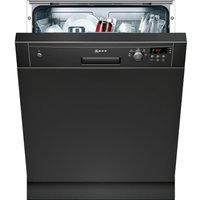 NEFF S41E50S1GB Full-size Semi-integrated Dishwasher - Black, Black