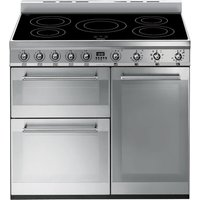 SMEG Symphony SY93I 90 cm Electric Induction Range Cooker - Stainless Steel, Stainless Steel