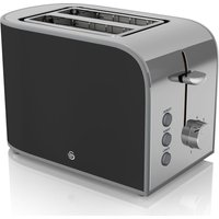 Buy SWAN Retro ST17020BN 2-Slice Toaster - Black, Black - Currys PC World