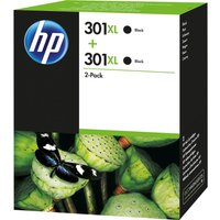 HP 301XL Black Ink Cartridge - Twin Pack, Black