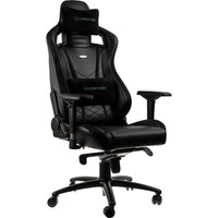 NOBLECHAIRS Epic Gaming Chair - Black & Green, Black