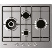CANDY CHW6D4WPX Gas Hob - Stainless Steel, Stainless Steel