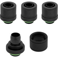 CORSAIR Hydro X Series XF 10 13 mm Compression Fitting   G1 4   Black  Pack of 4  Black