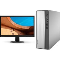 "Lenovo IdeaCentre 3 Desktop PC & C22-25 21.5"" Full HD LCD Monitor Bundle, Silver"