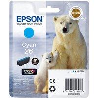 EPSON Polar Bear T2612 Cyan Ink Cartridge, Cyan
