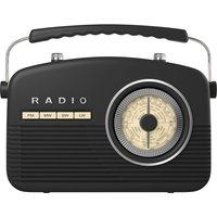 AKAI Retro A60010 Portable Radio - Black, Black sale image