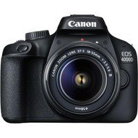 CANON EOS 4000D DSLR Camera with 18-55 mm f/3.5-5.6 Lens - Black, Black