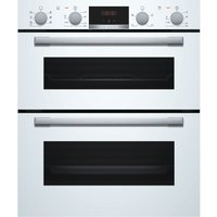 BOSCH NBS533BW0B Electric Built-under Double Oven - White, White