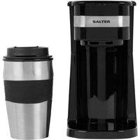 SALTER EK2408 Filter Coffee Machine - Black & Silver, Black
