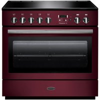 Rangemaster Professional+ FX 90 Electric Induction Range Cooker - Cranberry and Chrome, Cranberry