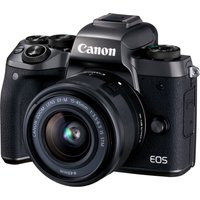 CANON EOS M5 Compact System Camera with 15-45 mm f/3.5-6.3 Zoom Lens - Black, Black