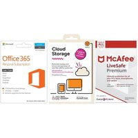MICROSOFT Office 365 Personal, 2 TB Cloud Storage & LiveSafe Unlimited Bundle