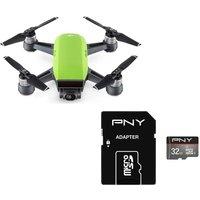 DJI Spark Drone & 32 GB microSDHC Memory Card Bundle - Meadow Green, Green