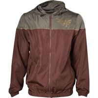 NINTENDO Zelda Windbreaker Jacket - XL, Brown, Brown