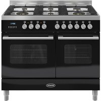 BRITANNIA Delphi 100 Twin Dual Fuel Range Cooker - Gloss Black, Black