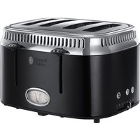 Buy RUSSELL HOBBS Retro 21691 4-Slice Toaster - Black, Black - Currys PC World
