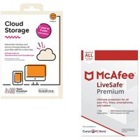 MCAFEE LiveSafe Premium & Cloud Storage 2 TB Backup Service Bundle