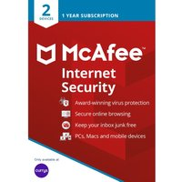 MCAFEE Internet Security 2019 - 1 year for 2 devices