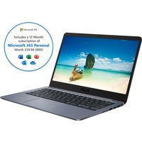 "Asus E406MA 14"" Laptop - Intel Celeron, 64GB eMMC, Grey,"