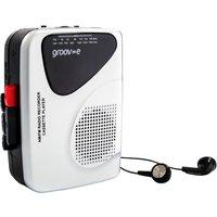 GROOV-E Retro GV-PS525 Personal Cassette Player & Recorder - Silver, Silver