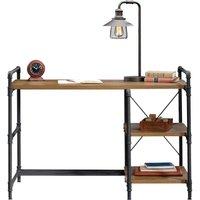 TEKNIK 5423505 Iron Foundry Desk - Checked Oak.